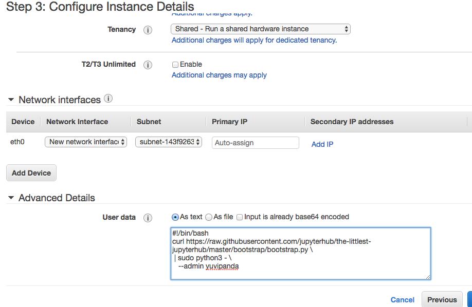 Installing on Amazon Web Services — The Littlest JupyterHub v0 1