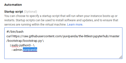 Installing on Google Cloud — The Littlest JupyterHub v0 1 documentation
